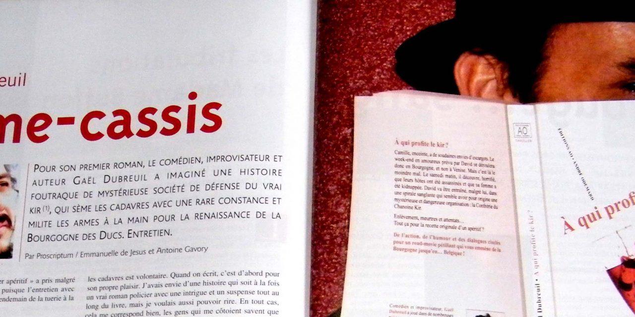 """""""A qui profite le kir® ?"""" s'affiche en double page dans Bourgogne Magazine"""