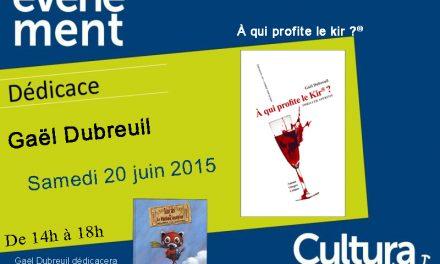 """Dédicace de mes livres """"Lucas et le parfum voyageur"""" et """"A qui profite le kir ?"""" à Cultura Bourgoin-Jallieu"""