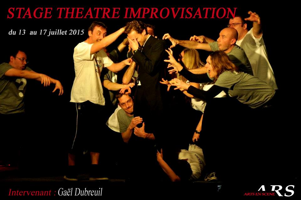 Stage d'improvisation du 13 au 17 juillet 2015 à l'école Arts en scène de Lyon