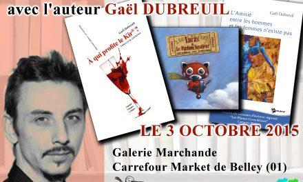 Rencontre dédicace à Belley (01) – samedi 3 octobre 2015
