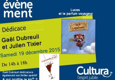 Dédicace à Cultura Bourgoin-Jallieu – 19 décembre 2015