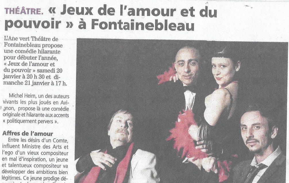 Succès à Fontainebleau pour Jeux de l'amour et du pouvoir