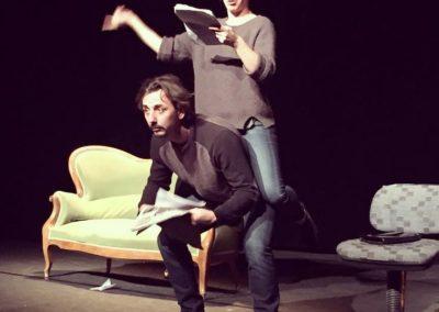 MOLIERE SHAKESPEARE ET MOI Patadome Theatre Lysiane Clément et Gaël Dubreuil