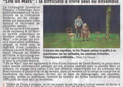 la provence life on mars théâtre l'oulle