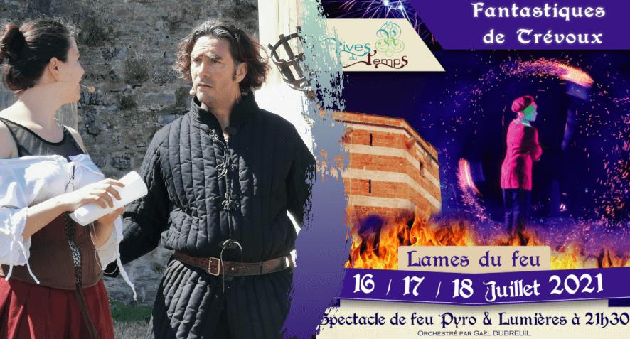 Répétitions Lames du feu (spectacle Pyro et lumières)