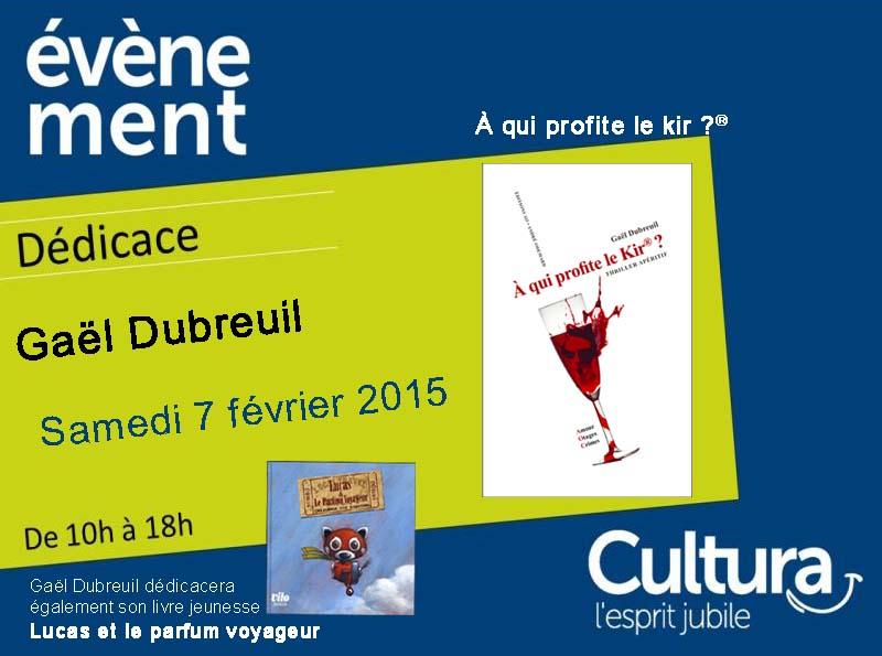 Dédicace à la librairie Cultura Bourgoin-Jallieu ce samedi 7 février 2015