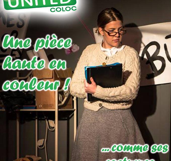 United Coloc – Une pièce haute en couleur jusqu'aux costumes