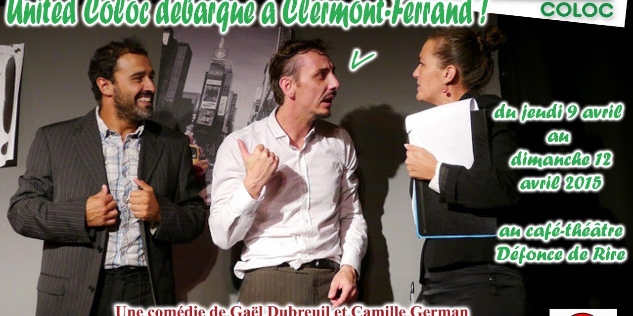 United Coloc pose ses cartons à Clermont-Ferrand du 9 au 12 avril 2015