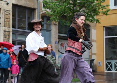 Coline Bouvarel gael dubreuil escrime spectacle cie armes de Lyon