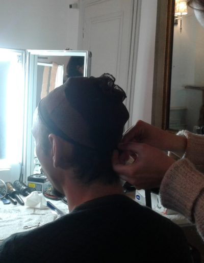 coiffure gael dubreuil tournage combat mousquetaire