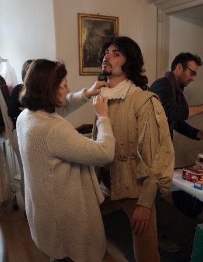 lucas bernardi habillage tournage combat mousquetaires