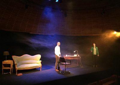 Moliere, Shakespeare et moi Patadome Theatre Lysiane Clement et Gael Dubreuil Adrien Perez